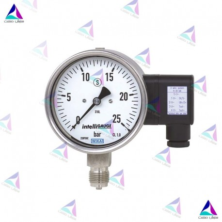 گیج فشار الکتریکی(PRESSURE GAUGES WITH ELECTRICAL OUTPUT SIGNAL) ویکا(WIKA)