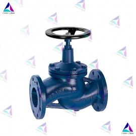 شیر کنترل جریان به همراه نشیمنگاه میوال PN 16 (flow valve with bellows MIVAL)