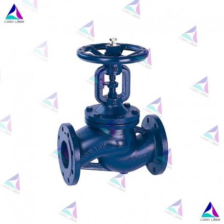 شیر کنترل جریان میوال PN 16 (flow valve with bellows MIVAL)