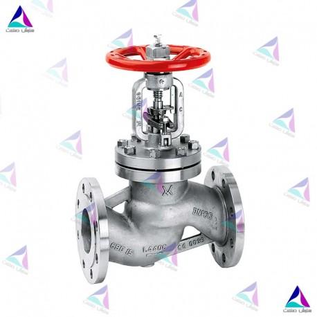 شیر کنترل جریان میوال PN 40 (flow valve with bellows MIVAL)